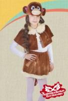 Обезьянка девочка плюш карнавальный костюм