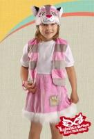 Кошечка розовая плюш карнавальный костюм