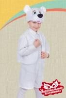 Медвежонок белый плюш карнавальный костюм