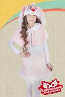 Зайка розовая плюш карнавальный костюм