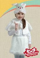 Зайка белая плюш карнавальный костюм