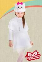 Кошечка белая плюш карнавальный костюм