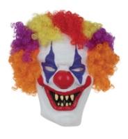 Маска пластик клоун с волосами