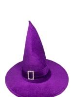 Шляпа Конус Ведьмы велюр фиолетовый
