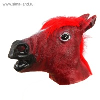 """Карнавальная маска """"Лошадь"""", цвет темно-коричневый"""